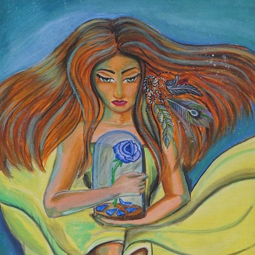 enchanted rose, 20 x 30 inch, nupur mishra,20x30inch,canvas,paintings,figurative paintings,conceptual paintings,expressionism paintings,illustration paintings,surrealism paintings,paintings for dining room,paintings for living room,paintings for bedroom,paintings for office,paintings for bathroom,paintings for hotel,paintings for kitchen,paintings for dining room,paintings for living room,paintings for bedroom,paintings for office,paintings for bathroom,paintings for hotel,paintings for kitchen,acrylic color,GAL01456129608