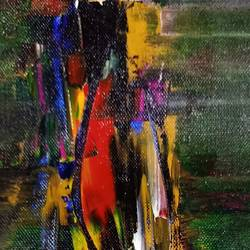 ladder, 7 x 20 inch, raj gaurav,7x20inch,canvas,paintings,abstract paintings,acrylic color,GAL01793829612