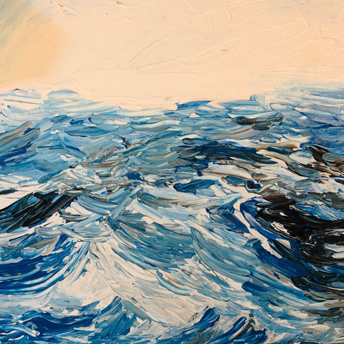 waves, 12 x 12 inch, swetha reddy,12x12inch,canvas board,paintings,nature paintings | scenery paintings,paintings for living room,paintings for bedroom,paintings for office,paintings for living room,paintings for bedroom,paintings for office,acrylic color,GAL01443729623