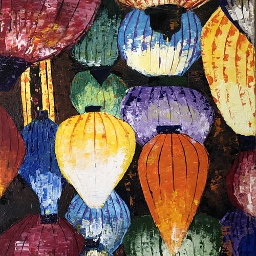 lantern, 16 x 20 inch, aditi mitra,16x20inch,canvas,paintings,abstract paintings,paintings for dining room,paintings for living room,paintings for bedroom,paintings for office,paintings for hotel,acrylic color,GAL01820629631