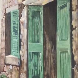 old calcutta house, 24 x 36 inch, aditi mitra,24x36inch,canvas,paintings,abstract paintings,paintings for dining room,paintings for living room,paintings for hotel,acrylic color,GAL01820629636