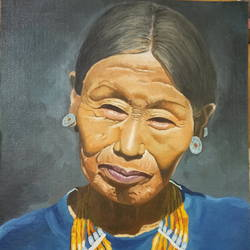 manipuri lady, 14 x 18 inch, sumit chandel,14x18inch,canvas,portrait paintings,paintings for living room,paintings for office,paintings for hotel,paintings for living room,paintings for office,paintings for hotel,oil color,GAL01824229654