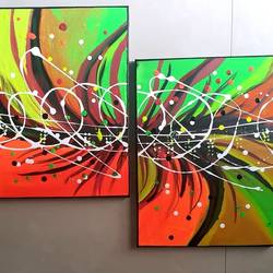 vibrant life, 52 x 16 inch, samir lingwal,52x16inch,canvas,paintings,abstract paintings,paintings for dining room,paintings for living room,paintings for bedroom,paintings for office,paintings for kids room,paintings for hotel,paintings for school,paintings for hospital,acrylic color,GAL01818729683