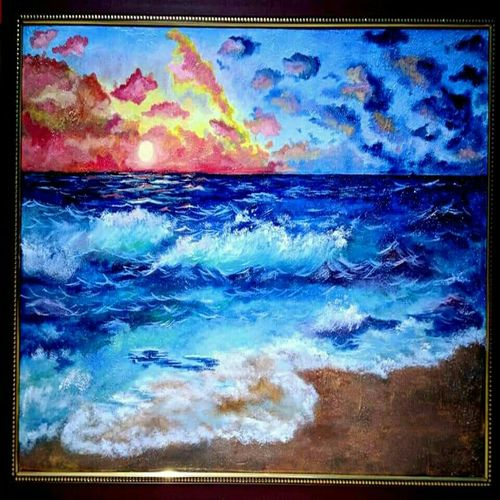 sea scape oil painting , 36 x 24 inch, meenakshi  sethi,36x24inch,canvas,landscape paintings,paintings for living room,paintings for bedroom,paintings for hotel,paintings for living room,paintings for bedroom,paintings for hotel,oil color,GAL01825629686
