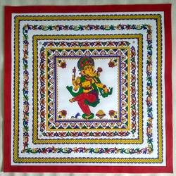 ganesha with multiple borders, 19 x 19 inch, geeta kwatra,19x19inch,canson paper,paintings,religious paintings,ganesha paintings | lord ganesh paintings,paintings for living room,paintings for hotel,paintings for hospital,acrylic color,mixed media,GAL0899129688