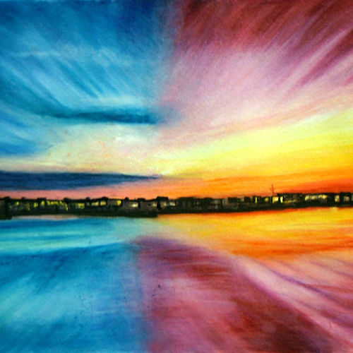 divine beautitude, 13 x 9 inch, neeraj parswal,cityscape paintings,paintings for office,thick paper,watercolor,13x9inch,GAL09297