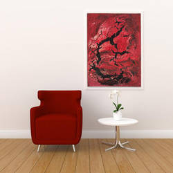 rivers and human, 18 x 24 inch, zuaah q,18x24inch,canvas,paintings,abstract paintings,paintings for dining room,paintings for living room,paintings for bedroom,paintings for office,paintings for hotel,acrylic color,oil color,GAL01826129703