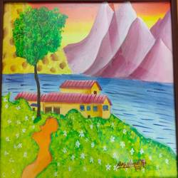 children painting, 11 x 17 inch, nivethitha singaram,11x17inch,canvas board,paintings,nature paintings | scenery paintings,oil color,GAL01826629720