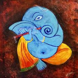 textured ganesha, 25 x 26 inch, akash bhisikar,25x26inch,canvas,paintings,modern art paintings,religious paintings,art deco paintings,ganesha paintings | lord ganesh paintings,elephant paintings,paintings for dining room,paintings for living room,paintings for bedroom,paintings for office,paintings for kids room,paintings for hotel,paintings for kitchen,paintings for school,paintings for hospital,acrylic color,fabric,bronze,GAL01828629726
