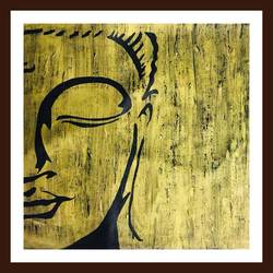 untitled buddha 2, 25 x 25 inch, akash bhisikar,25x25inch,canvas,paintings,abstract paintings,buddha paintings,modern art paintings,multi piece paintings,religious paintings,expressionism paintings,paintings for dining room,paintings for living room,paintings for bedroom,paintings for office,paintings for kids room,paintings for hotel,paintings for kitchen,paintings for school,paintings for hospital,acrylic color,bronze,GAL01828629728