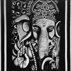 vighnaharata, 40 x 34 inch, akash bhisikar,40x34inch,canvas,paintings,abstract paintings,religious paintings,ganesha paintings | lord ganesh paintings,contemporary paintings,elephant paintings,paintings for dining room,paintings for living room,paintings for office,paintings for bathroom,paintings for kids room,paintings for hotel,paintings for kitchen,paintings for school,paintings for hospital,acrylic color,GAL01828629732