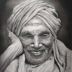 sri siddhaganga shivakumar swamiji, 31 x 31 inch, poornima yellapurkar,31x31inch,fabriano sheet,drawings,portrait drawings,paintings for living room,paintings for office,paintings for kids room,paintings for hotel,paintings for school,charcoal,graphite pencil,GAL0953529734