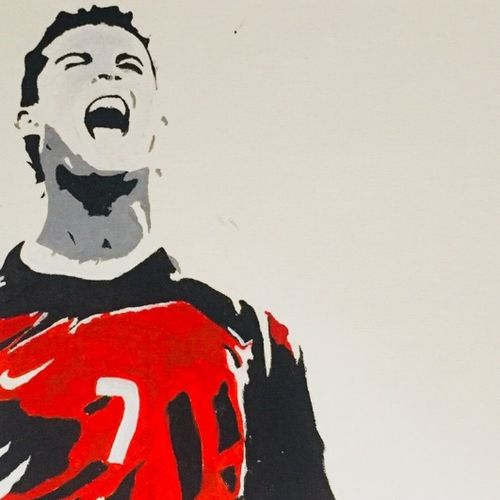 christiano ronaldo , 13 x 17 inch, akash bhisikar,13x17inch,canvas,paintings,portrait paintings,expressionism paintings,pop art paintings,realism paintings,love paintings,baby paintings,kids paintings,paintings for dining room,paintings for living room,paintings for bedroom,paintings for office,paintings for bathroom,paintings for kids room,paintings for hotel,paintings for kitchen,paintings for school,paintings for hospital,acrylic color,fabric,GAL01828629740
