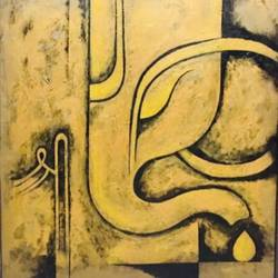 living room ganesha, 42 x 42 inch, akash bhisikar,42x42inch,canvas,paintings,religious paintings,abstract expressionism paintings,ganesha paintings | lord ganesh paintings,contemporary paintings,paintings for dining room,paintings for living room,paintings for office,paintings for hotel,paintings for school,paintings for hospital,acrylic color,GAL01828629742
