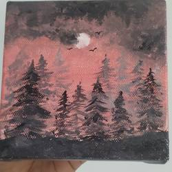 pine forest, 5 x 5 inch, avani maru,5x5inch,canvas,paintings,flower paintings,landscape paintings,nature paintings | scenery paintings,realistic paintings,paintings for dining room,paintings for living room,paintings for bedroom,paintings for office,paintings for bathroom,paintings for kids room,paintings for hotel,acrylic color,GAL01830629763