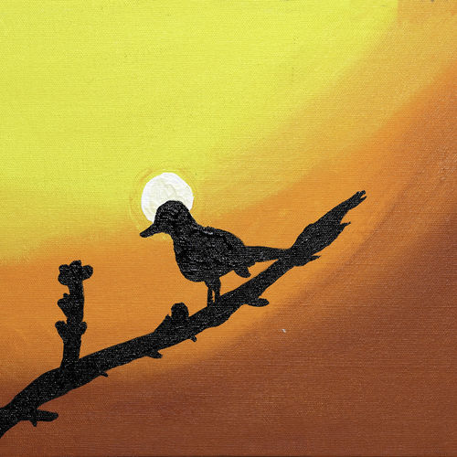 sparrow ready for flight, 12 x 10 inch, raj sinha,12x10inch,canvas,paintings,landscape paintings,nature paintings | scenery paintings,paintings for dining room,paintings for living room,paintings for bedroom,paintings for office,paintings for bathroom,paintings for hotel,paintings for kitchen,acrylic color,GAL01831229780