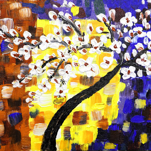 blossom , 12 x 10 inch, raj sinha,12x10inch,canvas,paintings,landscape paintings,nature paintings | scenery paintings,paintings for dining room,paintings for living room,paintings for bedroom,paintings for office,paintings for bathroom,paintings for hotel,paintings for hospital,acrylic color,GAL01831229799