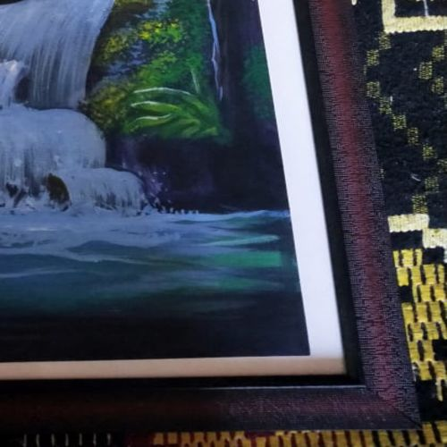 waterfall, 12 x 17 inch, janaki desikachari ,12x17inch,thick paper,paintings,nature paintings | scenery paintings,paintings for living room,oil color,GAL01812029834