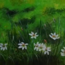 flowers, 23 x 14 inch, pratims hoare,23x14inch,canvas,paintings,flower paintings,paintings for living room,acrylic color,GAL01136229872