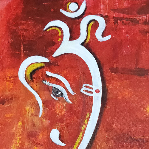 lord ganehsa, 9 x 20 inch, apurva suvarna,9x20inch,canvas,paintings,abstract paintings,modern art paintings,religious paintings,art deco paintings,ganesha paintings | lord ganesh paintings,paintings for dining room,paintings for living room,paintings for bedroom,paintings for office,paintings for kids room,paintings for hotel,paintings for school,paintings for hospital,acrylic color,GAL0477529893