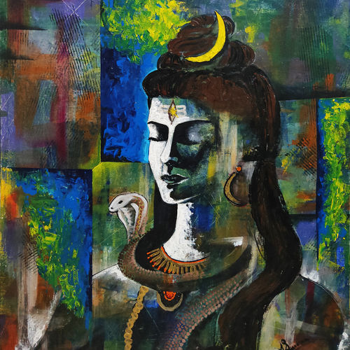 lord shiva, 20 x 24 inch, apurva suvarna,20x24inch,canvas board,abstract paintings,modern art paintings,religious paintings,portrait paintings,lord shiva paintings,paintings for dining room,paintings for living room,paintings for bedroom,paintings for office,paintings for kids room,paintings for hotel,paintings for school,paintings for hospital,paintings for dining room,paintings for living room,paintings for bedroom,paintings for office,paintings for kids room,paintings for hotel,paintings for school,paintings for hospital,acrylic color,GAL0477529894