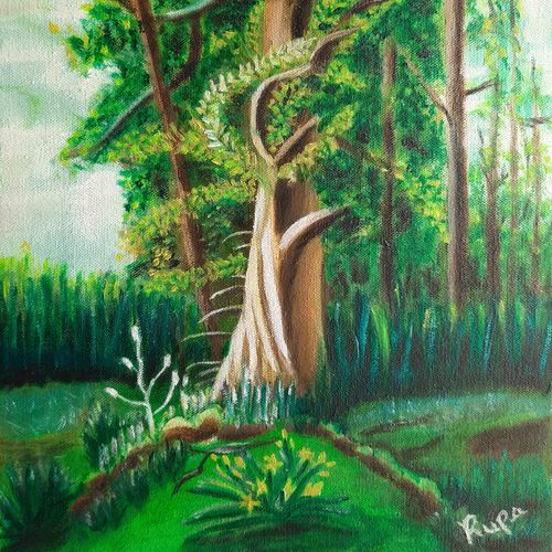 forest, 12 x 15 inch, rupa patel,12x15inch,canvas,paintings,landscape paintings,nature paintings | scenery paintings,contemporary paintings,realistic paintings,paintings for dining room,paintings for living room,paintings for bedroom,paintings for office,paintings for kids room,paintings for hotel,paintings for school,paintings for hospital,oil color,GAL01734629903