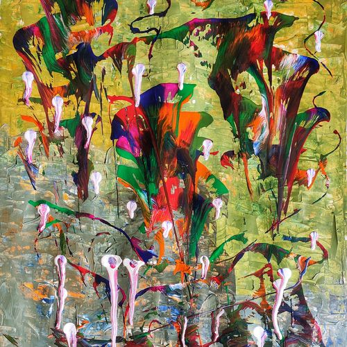 magic mashrooms, 12 x 17 inch, manoj  sridhar,12x17inch,thick paper,paintings,abstract paintings,figurative paintings,flower paintings,folk art paintings,cityscape paintings,modern art paintings,multi piece paintings,conceptual paintings,abstract expressionism paintings,pop art paintings,realism paintings,contemporary paintings,paintings for dining room,paintings for living room,paintings for bedroom,paintings for office,paintings for bathroom,paintings for kids room,paintings for hotel,paintings for kitchen,paintings for school,paintings for hospital,acrylic color,mixed media,poster color,paper,GAL01841129907
