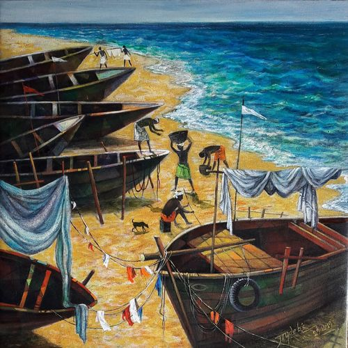 men at work, 18 x 18 inch, joydeb  chatterjee,18x18inch,canvas,paintings,figurative paintings,landscape paintings,modern art paintings,conceptual paintings,nature paintings | scenery paintings,paintings for dining room,paintings for living room,paintings for bedroom,paintings for office,paintings for bathroom,paintings for kids room,paintings for hotel,paintings for kitchen,paintings for school,paintings for hospital,acrylic color,GAL01848629922