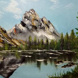 nature reflection , 18 x 14 inch, hriday  das,landscape paintings,paintings for office,nature paintings,canvas,oil,18x14inch,GAL09832993Nature,environment,Beauty,scenery,greenery