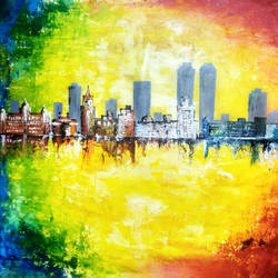 mumbai skyline, 48 x 36 inch, apurva suvarna,48x36inch,canvas,paintings,abstract paintings,contemporary paintings,paintings for dining room,paintings for living room,paintings for bedroom,paintings for office,paintings for bathroom,paintings for kids room,paintings for hotel,paintings for kitchen,paintings for school,paintings for hospital,acrylic color,GAL0477529948