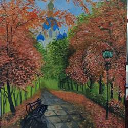 scenery, 10 x 13 inch, anupama gopinath,10x13inch,canvas,paintings,landscape paintings,nature paintings | scenery paintings,acrylic color,oil color,GAL01851129957