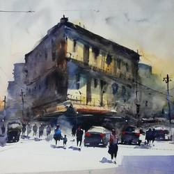 untitled, 12 x 17 inch, praveen g nair,12x17inch,brustro watercolor paper,paintings,cityscape paintings,watercolor,GAL01854229999
