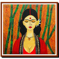beautiful indian women - 35 in x 35 in, 35 x 35 inch, akash bhisikar,35x35inch,canvas,paintings,abstract paintings,figurative paintings,flower paintings,folk art paintings,modern art paintings,portrait paintings,radha krishna paintings,contemporary paintings,love paintings,madhubani paintings | madhubani art,paintings for dining room,paintings for living room,paintings for bedroom,paintings for office,paintings for bathroom,paintings for kids room,paintings for hotel,paintings for kitchen,paintings for hospital,figurative drawings,fine art drawings,folk drawings,modern drawings,portrait drawings,radha krishna drawings,paintings for dining room,paintings for living room,paintings for bedroom,paintings for office,paintings for bathroom,paintings for hotel,paintings for kitchen,acrylic color,GAL01828630020