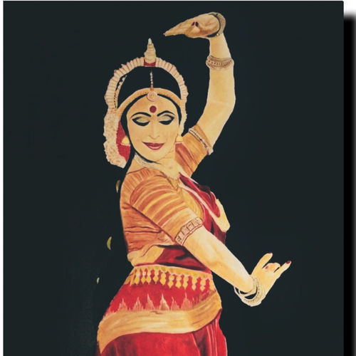 odissi dancer - 5ft painting , 33 x 59 inch, akash bhisikar,33x59inch,canvas,paintings,figurative paintings,folk art paintings,modern art paintings,portrait paintings,portraiture,realism paintings,contemporary paintings,realistic paintings,love paintings,kerala murals painting,paintings for dining room,paintings for living room,paintings for bedroom,paintings for office,paintings for bathroom,paintings for kids room,paintings for hotel,paintings for kitchen,paintings for school,paintings for hospital,oil color,GAL01828630021