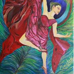 danse inside, 12 x 16 inch, minakshi karmakar,12x16inch,canvas,paintings,figurative paintings,conceptual paintings,portrait paintings,paintings for living room,paintings for office,paintings for hotel,paintings for living room,paintings for office,paintings for hotel,acrylic color,GAL0783530026