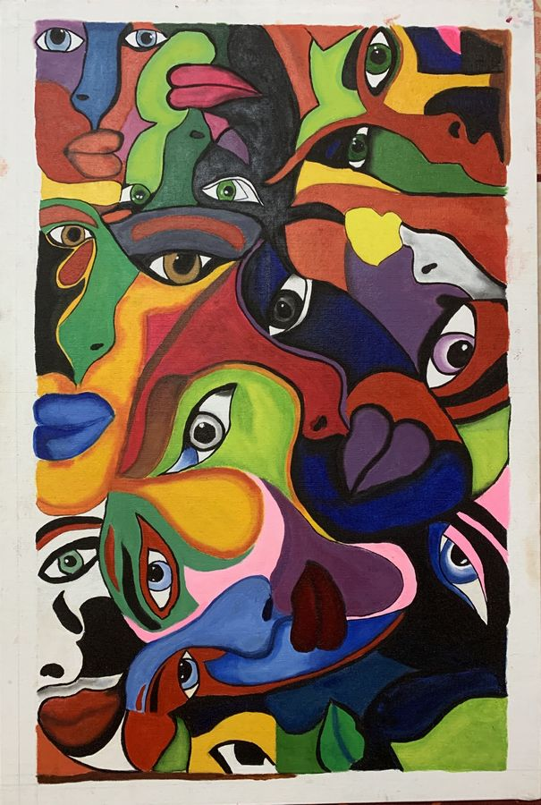 soulful eyes, 20 x 30 inch, shilpa jain,20x30inch,canvas,abstract paintings,paintings for living room,paintings for office,paintings for hotel,paintings for living room,paintings for office,paintings for hotel,oil color,GAL01850730028