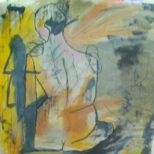 the lady, 16 x 20 inch, amin tehrani,16x20inch,canvas,paintings,abstract expressionism paintings,paintings for living room,paintings for bedroom,paintings for hotel,paintings for living room,paintings for bedroom,paintings for hotel,acrylic color,GAL01855930038