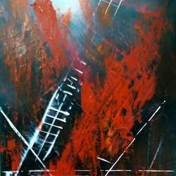 stairway to heaven, 12 x 24 inch, amin tehrani,12x24inch,hardboard,paintings,abstract paintings,paintings for dining room,paintings for living room,paintings for bedroom,paintings for office,paintings for hotel,acrylic color,GAL01855930041
