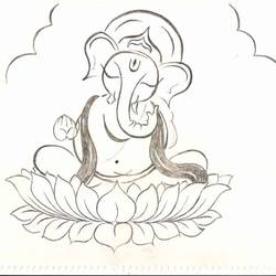 happy ganesha, 8 x 12 inch, chetan p,8x12inch,paper,art deco drawings,conceptual drawings,documentary drawings,figurative drawings,fine art drawings,photorealism drawings,kids drawings,ganesha drawings,graphite pencil,GAL01860730046