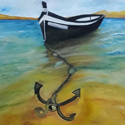 looking for the shore, 20 x 30 inch, umme  habiba ,20x30inch,canvas,paintings,nature paintings | scenery paintings,paintings for living room,paintings for living room,oil color,GAL01859130050