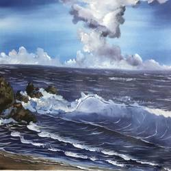 seascape, 22 x 20 inch, shankhadeep  mondal,22x20inch,canvas,paintings,landscape paintings,paintings for dining room,paintings for living room,paintings for bedroom,paintings for office,paintings for kids room,paintings for hotel,paintings for kitchen,paintings for school,paintings for hospital,acrylic color,GAL01403030058