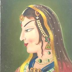 rajasthani lady, 18 x 24 inch, balbir art  gallery,18x24inch,canvas,paintings,figurative paintings,portrait paintings,portraiture,paintings for dining room,paintings for living room,paintings for bedroom,paintings for office,paintings for bathroom,paintings for hotel,paintings for kitchen,oil color,GAL01076530067