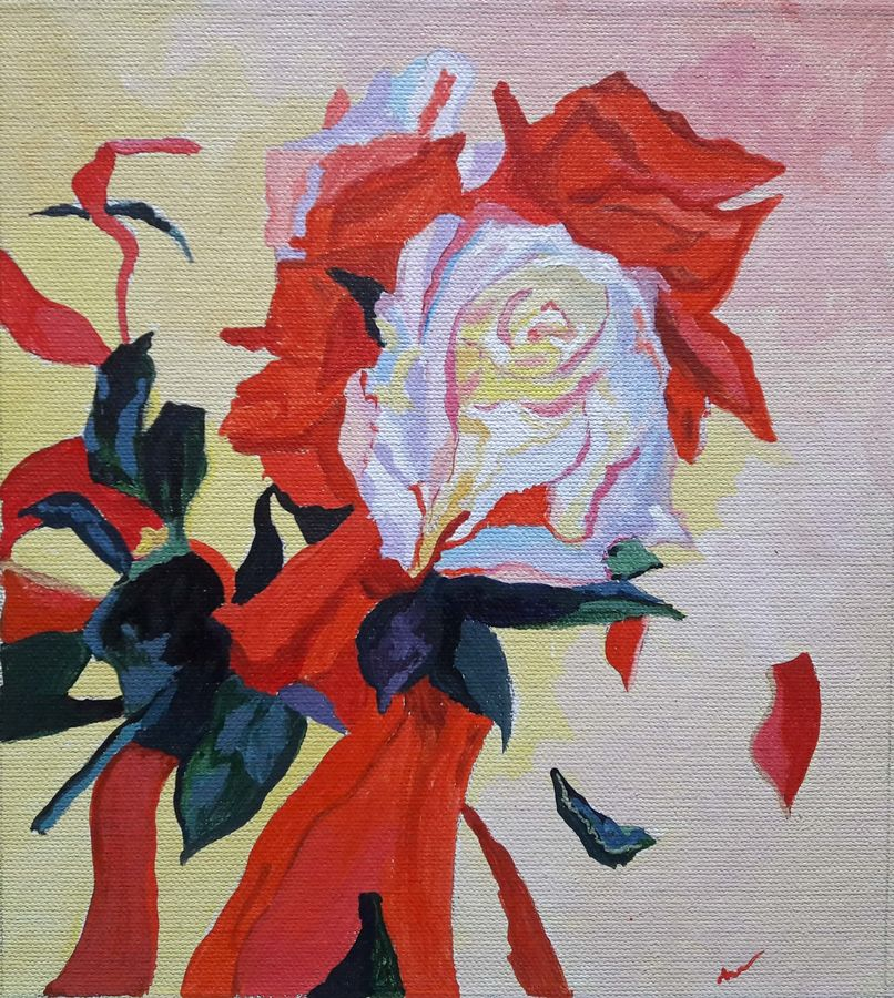 floral art 5 - rose, 8 x 9 inch, indhuja raghavan,flower paintings,paintings for living room,love paintings,canvas,acrylic color,8x9inch,GAL01103008heart,family,caring,happiness,forever,happy,trust,passion,romance,sweet,kiss,love,hugs,warm,fun,kisses,joy,friendship,marriage,chocolate,husband,wife,forever,caring,couple,sweetheart