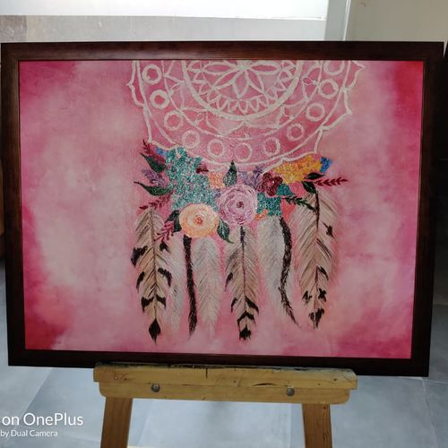 dream catcher, 20 x 24 inch, fatema batterywala,20x24inch,canvas,paintings,abstract paintings,modern art paintings,paintings for living room,paintings for bedroom,paintings for office,paintings for hotel,paintings for living room,paintings for bedroom,paintings for office,paintings for hotel,acrylic color,GAL01848030080