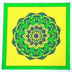 mandala art with florescent colours, 20 x 20 inch, geeta kwatra,20x20inch,canvas,paintings,art deco paintings,paintings for living room,paintings for hotel,acrylic color,GAL0899130128