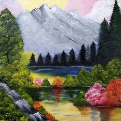 nature, 14 x 18 inch, vinutha s hanchate,14x18inch,canvas,abstract paintings,flower paintings,nature paintings | scenery paintings,water fountain paintings,paintings for dining room,paintings for living room,paintings for bedroom,paintings for office,paintings for hotel,paintings for dining room,paintings for living room,paintings for bedroom,paintings for office,paintings for hotel,acrylic color,GAL01721230135