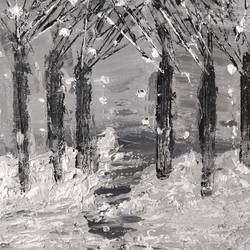 snow forest, 8 x 10 inch, gitika singh,8x10inch,canvas,paintings,abstract paintings,landscape paintings,nature paintings | scenery paintings,acrylic color,GAL01865430179