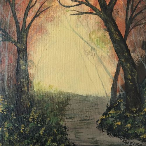 in the wild, 8 x 10 inch, gitika singh,8x10inch,canvas,paintings,landscape paintings,nature paintings | scenery paintings,acrylic color,GAL01865430188