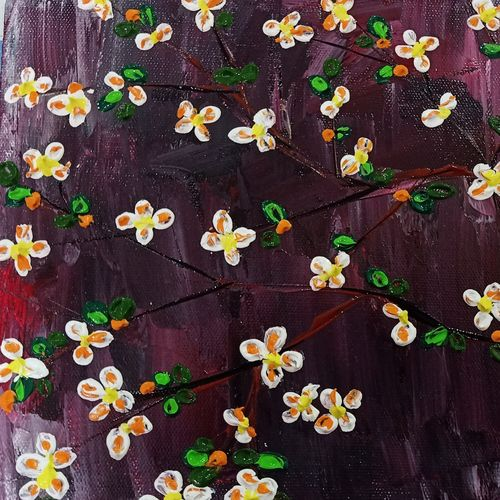 floral 201, 10 x 8 inch, raj gaurav,10x8inch,canvas,abstract paintings,flower paintings,paintings for dining room,paintings for living room,paintings for bedroom,paintings for office,paintings for kids room,paintings for dining room,paintings for living room,paintings for bedroom,paintings for office,paintings for kids room,acrylic color,GAL01793830189