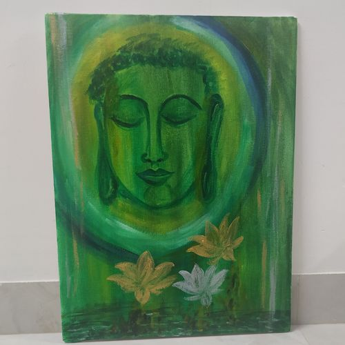 serene, 12 x 16 inch, avani maru,12x16inch,canvas,abstract paintings,buddha paintings,conceptual paintings,religious paintings,abstract expressionism paintings,expressionism paintings,minimalist paintings,surrealism paintings,paintings for dining room,paintings for living room,paintings for office,paintings for hotel,paintings for hospital,paintings for dining room,paintings for living room,paintings for office,paintings for hotel,paintings for hospital,acrylic color,GAL01830630194